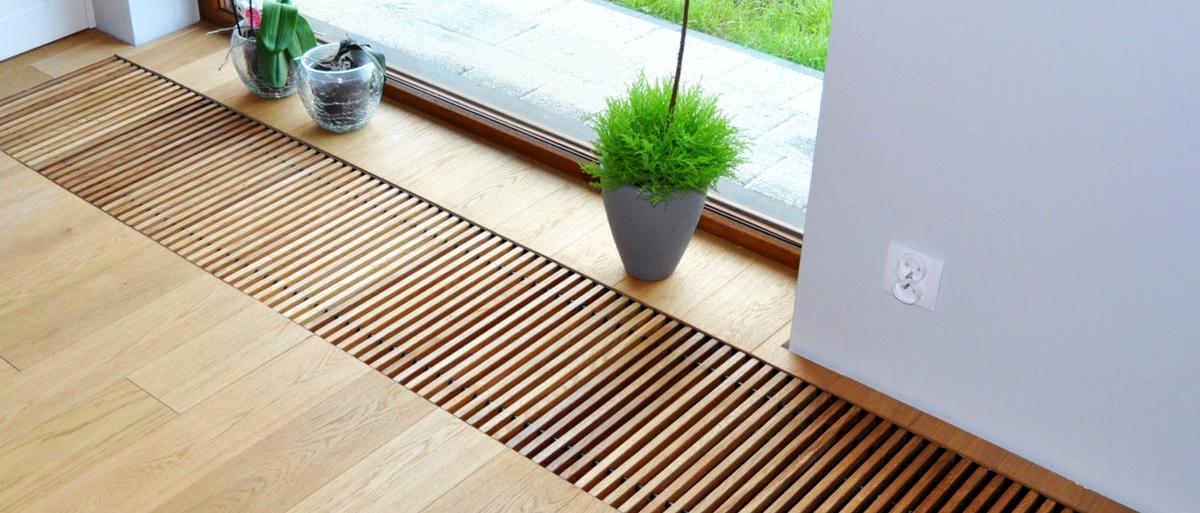 Деревянные решетки для внутрипольных конвекторов